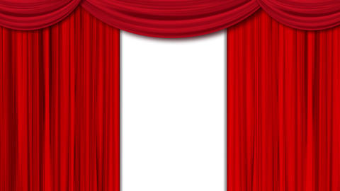 Theater curtain opening video. The curtain opens Animation