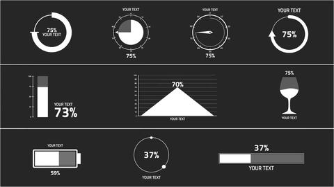 Percentage Infographics After Effects Template