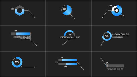 Percentage Call Out After Effects Template