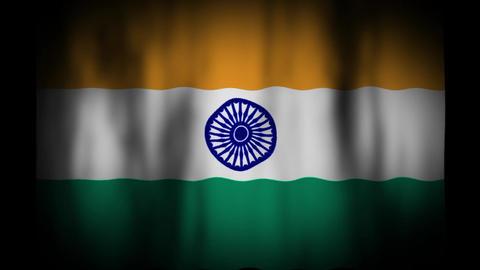 インドの国旗 CG動画