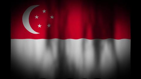 シンガポールの国旗 CG動画
