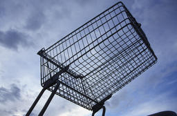 shopping cart from below Photo