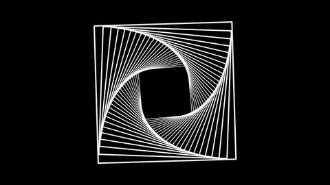 Abstract animation rotating of shape. Abstract computer rendering Animation