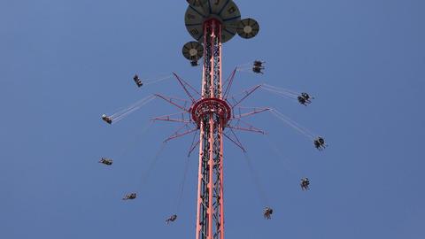 Amusement Park Ride At State Fair Footage