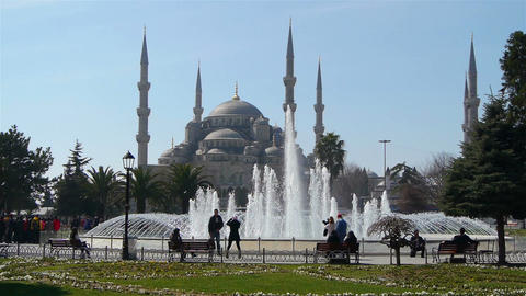 The Sultan Ahmed Mosque, Istanbul Turkey Stock Video Footage
