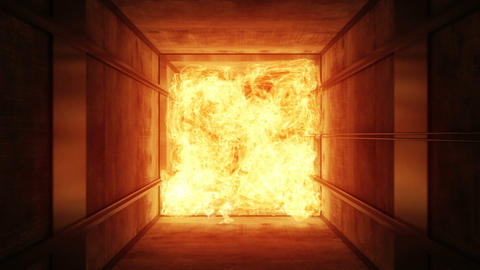 Fire in a ventilating shaft Animation
