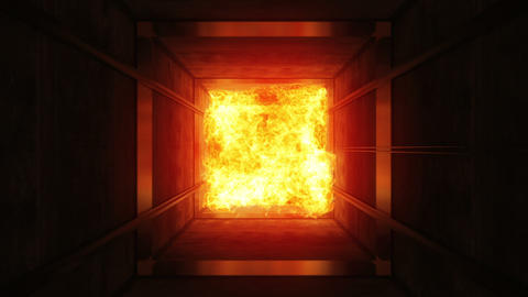 Fire in a ventilating shaft Stock Video Footage