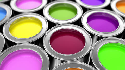 paints Stock Video Footage