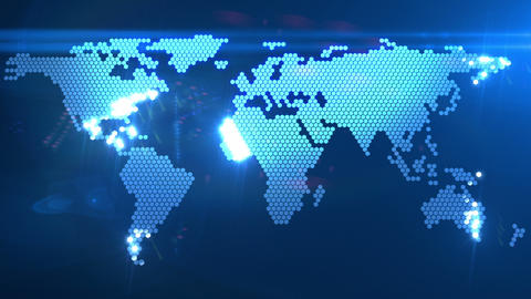 digital world map Stock Video Footage