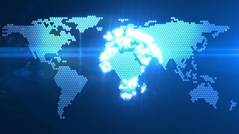 digital world map Animation