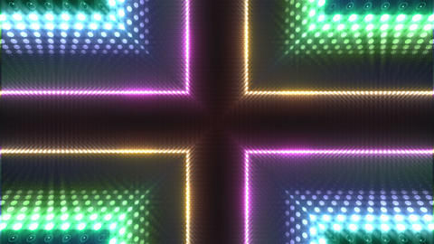 LED Kaleidoscope Wall 2 W Db O 2g HD Stock Video Footage