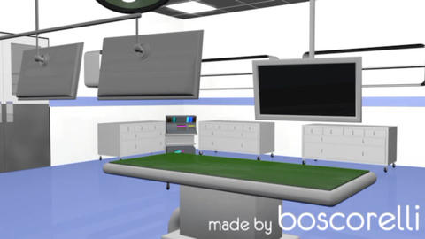 High Tech Operation Medical Room 3D Model stock footage