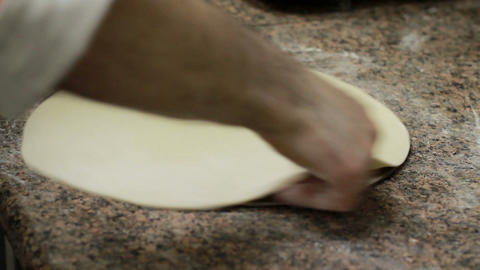 Chef Making Pizza Dough Stock Video Footage