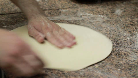 Chef Making Pizza Dough Footage