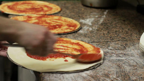 Chef Making Pizza Footage