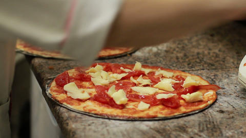 Chef Making Pizza Stock Video Footage