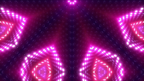 LED Kaleidoscope Wall 2 W Db Y 1g HD Stock Video Footage
