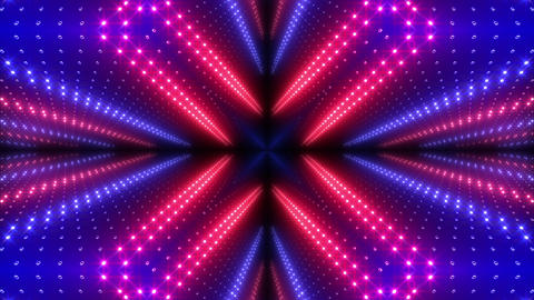 LED Kaleidoscope Wall 2 W Ds Y 3g HD Stock Video Footage