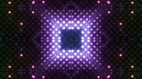 LED Kaleidoscope Wall 2 W Hb Yg HD Stock Video Footage