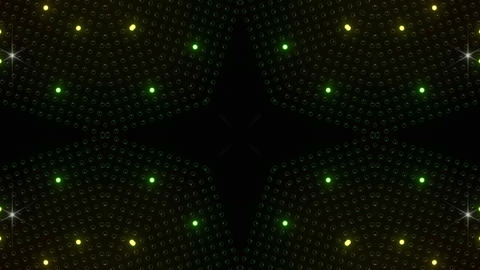 LED Kaleidoscope Wall 2 W Ib R HD Stock Video Footage