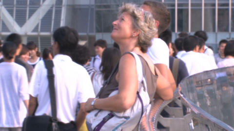 Western Tourist Inbetween Chinees People stock footage