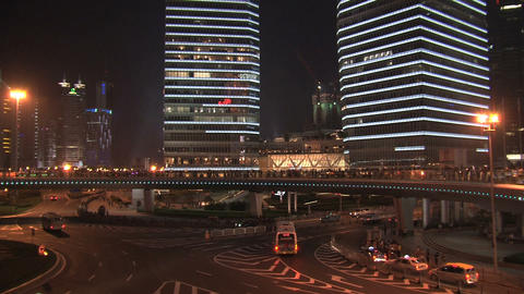 Shanghai traffic pan Stock Video Footage
