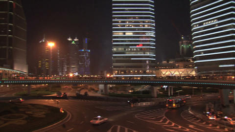 Shanghai Traffic Pan stock footage