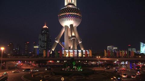 Oriental Pearl Tower Stock Video Footage