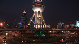 Oriental Pearl Tower stock footage