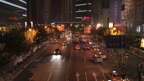Shanghai street Stock Video Footage