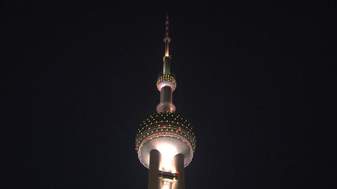 Top of the Oriental Pearl Tower Stock Video Footage