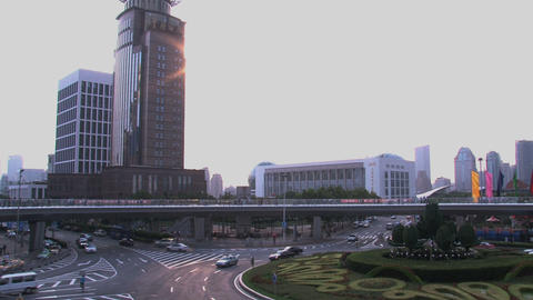Lujiazui Shanghai traffic Stock Video Footage