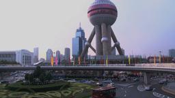 Lujiazui Shanghai traffic Stock Video Footage