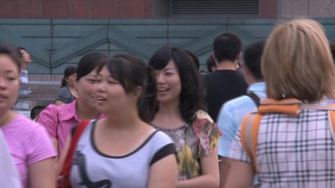 Shanghai crowd Stock Video Footage