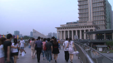 Shanghai crowd Stock Video Footage