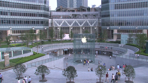 Apple store in Shanghai Stock Video Footage