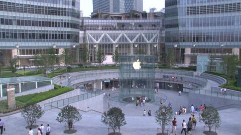Apple store in Shanghai Stock Video Footage