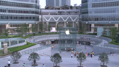 Apple Store In Shanghai stock footage