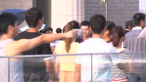 Shanghai Crowd stock footage
