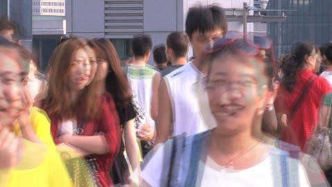 Chinese crowd timelapse Stock Video Footage