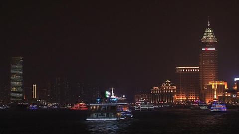Ferries in Shanghai Stock Video Footage