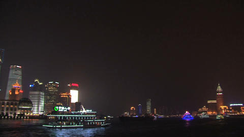 Shanghai skyline pan Footage