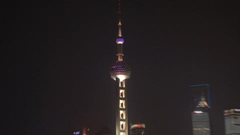 Shanghai skyline zoom out Footage