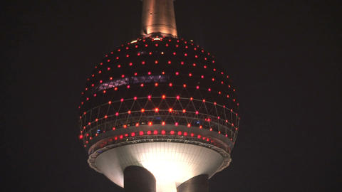 Fast zoom out Shanghai Skyline Stock Video Footage