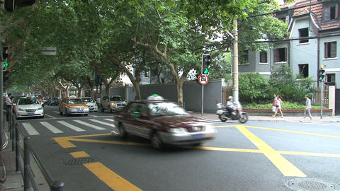 Traffic downtown Shanghai Stock Video Footage