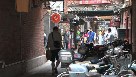 Small street downtown Shanghai Footage