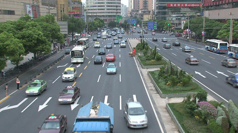 Shanghai traffic Footage