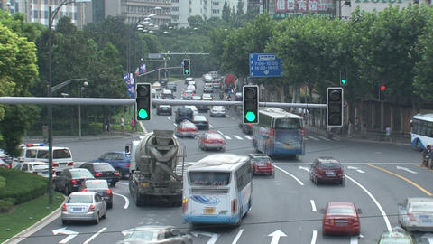 Traffic Shanghai time lapse Footage