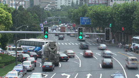 Traffic Shanghai time lapse Stock Video Footage