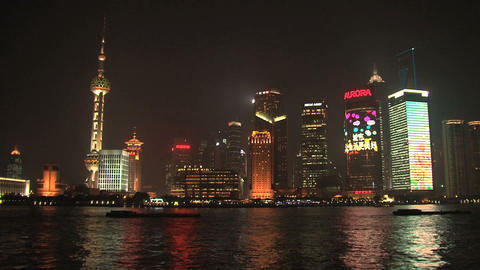 Shanghai skyline Stock Video Footage